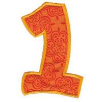 Matriz de bordado Monograma Aplique Infantil 5 Número 1