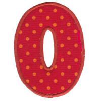 Matriz de bordado Monograma Aplique Infantil 5 Número 0