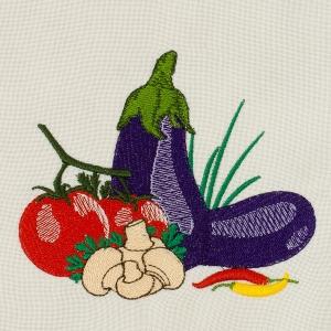 Matriz de bordado legumes e verduras 4