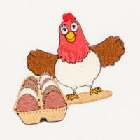Matriz de bordado galinha 23