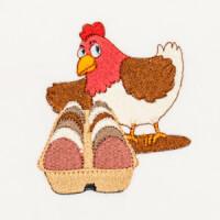 Matriz de bordado galinha 24