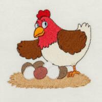 Matriz de bordado galinha 25