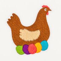 Matriz de bordado galinha 26