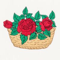 Matriz de bordado cesta floral 1