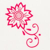 Matriz de bordado floral 497
