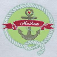 Matriz de bordado moldura aplique marinheiro 4
