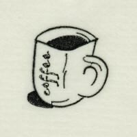 Matriz de bordado caf� da manh� 42