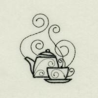 Matriz de bordado caf� da manh� 44