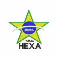 Matriz de bordado Brasil Hexa