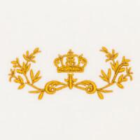Matriz de bordado moldura coroa 1