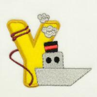 Matriz de bordado alfabeto aplique marinheiro 2