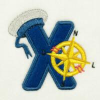 Matriz de bordado alfabeto aplique marinheiro 3