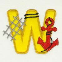 Matriz de bordado alfabeto aplique marinheiro 26