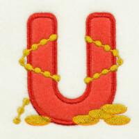 Matriz de bordado alfabeto aplique marinheiro 5