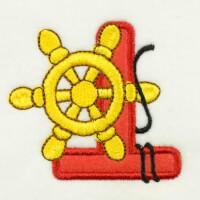 Matriz de bordado alfabeto aplique marinheiro 6