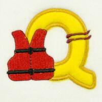 Matriz de bordado alfabeto aplique marinheiro