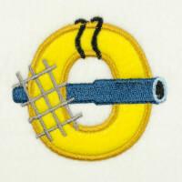 Matriz de bordado alfabeto aplique marinheiro 10