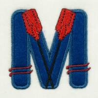 Matriz de bordado alfabeto aplique marinheiro 13