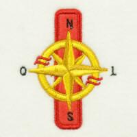Matriz de bordado alfabeto aplique marinheiro 17
