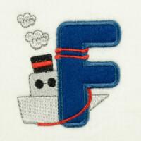 Matriz de bordado alfabeto aplique marinheiro 20