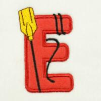 Matriz de bordado alfabeto aplique marinheiro 21