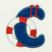 Matriz de bordado alfabeto aplique marinheiro 23