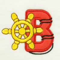 Matriz de bordado alfabeto aplique marinheiro 24
