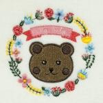 Matriz de bordado ursinho moldura 25