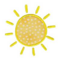 Matriz de bordado Sol (aplique)