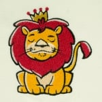 Matriz de bordado leãozinho 1