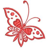 Matriz de bordado borboleta 02