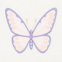 Matriz de bordado borboleta 10