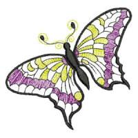 Matriz de bordado borboleta 12