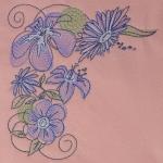 Matriz de bordado floral 506