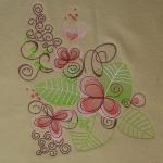 Matriz de bordado floral 509