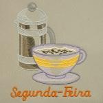 Matriz de bordado Semaninha Café da manhã