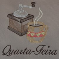 Matriz de bordado semaninha cafe da manhã 2