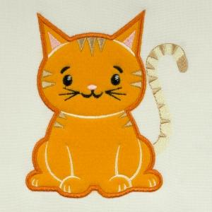 Matriz de bordado gatinho aplique 3