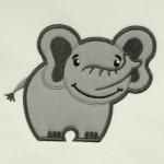 Matriz de bordado elefantinho aplique 2