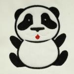 Matriz de bordado panda aplique 2