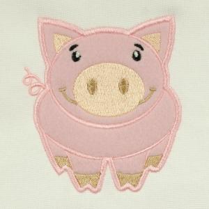 Matriz de bordado Aplique Porquinho 3