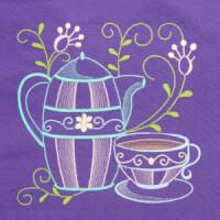 Matriz de bordado cafe na mesa 7