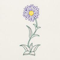 Matriz de bordado flor 258