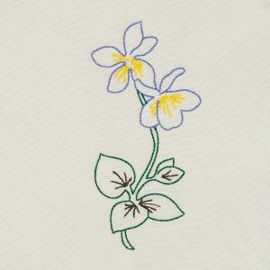 Matriz de bordado flor 257