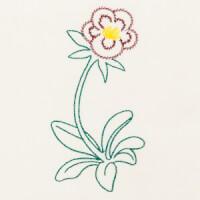 Matriz de bordado flor 256