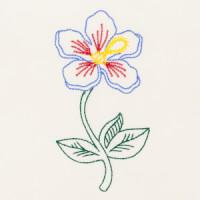 Matriz de bordado floral 523
