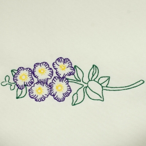 Matriz de bordado flor 260