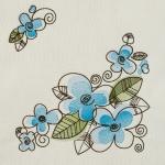 Matriz de bordado floral 525