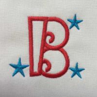 Matriz de bordado letra B