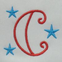 Matriz de bordado letra C